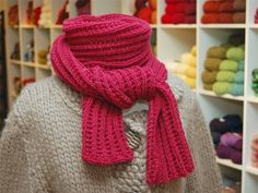 love this raspberry scarf
