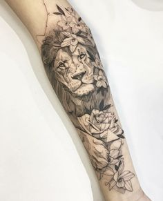 Awesome Sleeve Tattoos For Women Which You Will In Love With; Sleeve Tattoos For Women; Lion Tattoo Sleeves, Best Sleeve Tattoos, Sleeve Tattoos For Women, Lion Sleeve, Animal Sleeve Tattoo, Lion Arm Tattoo, Small Lion Tattoo, Lion Tattoo King, Nature Tattoo Sleeve Women