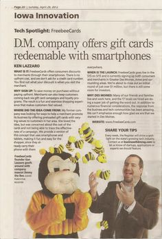 Our first Des Moines Register article! Have Fun, Product Launch, News, Quotes, Cards, Quotations, Maps, Playing Cards, Quote