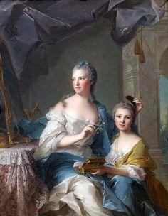 Jean-Marc Nattier Madame Marsollier and her Daughter