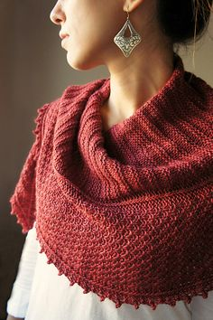 Joji Autumn Blush Shawl Knitting Pattern