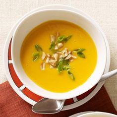Spicy, warm, and delicious, this butternut squash soup recipe includes a Thai twist with the added flavors of curry and coconut milk.