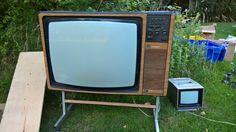 Vintage Pye Studio Colour TV 60s or 70s and vintage CCTV monitor / TV