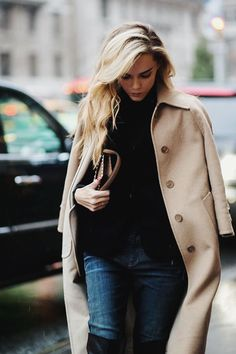 24 Images of Layers, Coats & Cable Knit Sweaters :: This is Glamorous