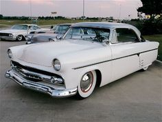 Jimmy Vaughn's '54 Ford Victoria   This would be so cute to drive away in...