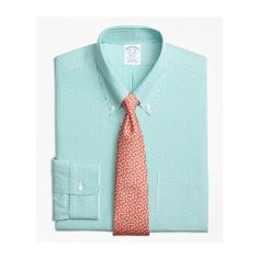 Brooks Brothers Non-Iron Regent Fit Dobby Candy Stripe Dress Shirt (1,660 EGP) ❤ liked on Polyvore featuring men's fashion, men's clothing, men's shirts, men's dress shirts, mens button down collar dress shirts, brooks brothers mens shirts, mens dress shirts, mens no iron dress shirts and men's non iron dress shirts