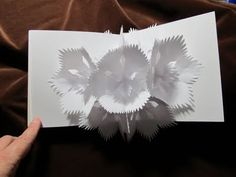 """Cynthia Emerlye, Vermont artist and kirigami papercutter: """"In My Garden"""" - a movable book"""