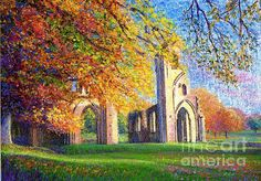 Glastonbury Abbey Fall by Jane Small