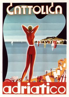 Vintage travel posters: Cattolica, Italy. www.italianways.com/cattolica-the-queen-of-holidays-on-the-adriatic/