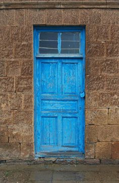 Simple blue door...