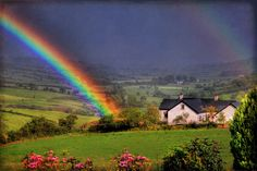 Rainbow at Fallagh..in the County of Tyrone ~ Ireland (Another place in Ireland where my ancestors come from)