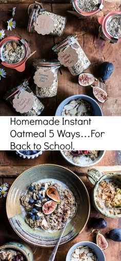 Homemade Instant Oatmeal 5 Ways | For Back to School