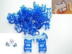 50pcs Disposable Cotton Roll Holder Blue Clip For Dental Clinic #Shaind2104