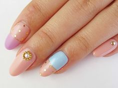Designs for pointy nails love it! Xo