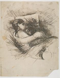Man and Woman in Bed (Saint Cloud) 1890 - Edvard Munch