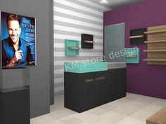 Η KM store designμέσα από 20 χρόνια πείρας στις επιπλώσεις καταστημάτων και επαγγελματικών χώρων συνεχίζει και παρουσιάζει επαγγελματικό σχεδιασμό και προτάσεις επίπλωσης. Ανταποκρινόμαστε σχεδιαστικά και κατασκευαστικά σε όλες τις απαιτήσεις του επαγγελματία με ποιότητα και συνέπεια.            Έπιπλα ηλεκτρονικού τσιγάρου               Στο Vape Logo, Rise From The Ashes, Store Design, Desktop, Desk, Design Shop