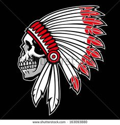Indian chief skull by bazzier, via Shutterstock