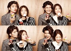 Additional Spreads Of Park Shin Hye & Haruma Miura In CéCi's September 2013 Issue : Couch Kimchi
