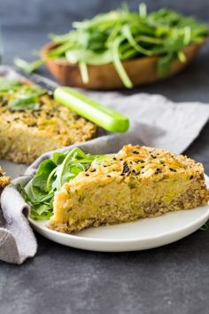 Naturally gluten-free, no tofu (soy-free), Vegan Leek Quiche with an amazing quinoa crust and the best egg replacement ever: chickpea flour.