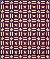 Do you have a Patriotic quilt in mind for this 4th of July? How about this FREE patriotic quilt pattern - Marianne & Liz made this quilt to donate to victims of the Sept. 11 tragedy.