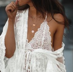 white lace and dainty details