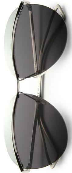 Dior Colorblocked 62mm kerek napszemüveg ezüst