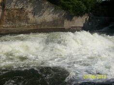 The Raging Rapids at Bala Falls in Bala Ont. Ontario, Castle, River, Blue, Castles, Rivers