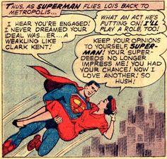 "Superman's Girlfriend, Lois Lane #12 - ""Lois Lane Loves Clark Kent!"" (1959) art by Al Plastino"