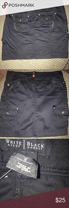 White House Black Market Cargo Skirt WHBM Black Cargo Skirt. NEW!! Never Worn! Size 2 White House Black Market Skirts