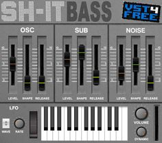 Bass synth SH-it Bass (Free Roland SH-101 ROMpler AU & VST) released by VST4FREE. http://www.vstplanet.com/News/15/bass-synth-sh-it-bass-released-by-vst4free.htm