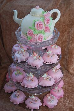 Tea Party Cupcakes and Cake