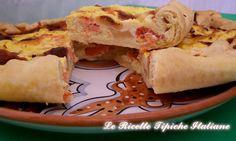 Torta salata con ricotta e salmone affumicato
