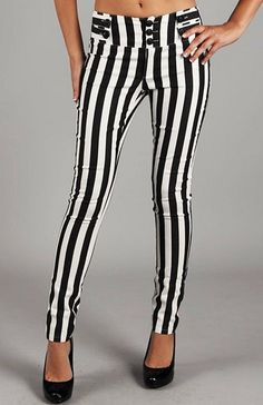 Striped pants... As shocked as I am that I'm saying this, under the right circumstances with the right top, I Might wear these