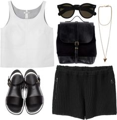 """""""in black and white"""" by rosiee22 on Polyvore"""