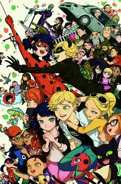 Everyone! This would make a nice poster (Miraculous Ladybug)