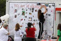 The beautiful tribute banner honoring our loved ones at the Long Island Walk to Defeat ALS.