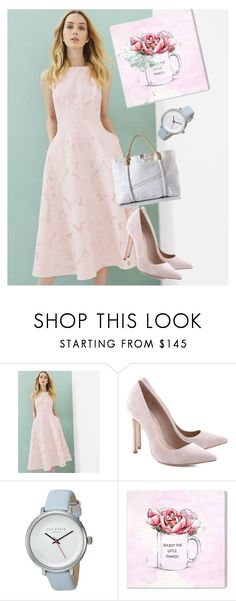 """dress"" by masayuki4499 on Polyvore featuring Ted Baker, Schutz and Oliver Gal Artist Co."