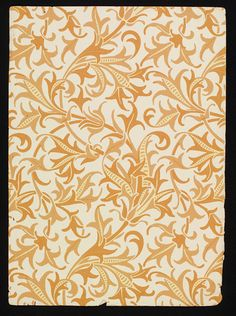 #Arabesque #wallpaper by Lewis Foreman Day, England, ca.1887-1900 l Victoria and Albert Museum