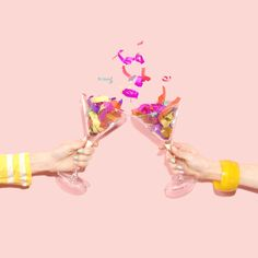 Cheers to the weekend dolls! Surrealism Photography, Color Photography, Creative Photography, Birthday Wishes, Happy Birthday, Promo Flyer, Dibujos Cute, Color Of Life, Pink Aesthetic