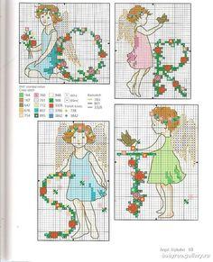 Alphabet Fairies - 6/8 Solo Patrones Punto Cruz (pág. 436) | Aprender manualidades es facilisimo.com