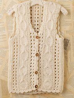 crochet sweater vest pattern - Google Search