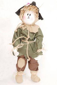 Boneco de pano, representando o Espantalho do Mágico de Oz. 55 cm R$ 180,00
