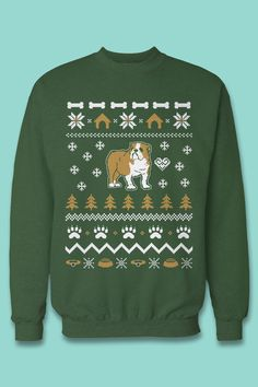 The best gift for Bulldog lovers and parents! For each ugly christmas ...