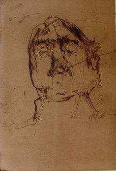 Robert D'Arista, 1929-1987, drypoint. Robert D'Arista Prints 1960-79