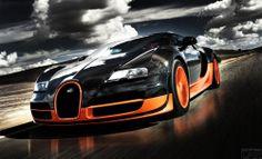 La foto è molto veloce ed efficiente della macchina Bugatti Veyron