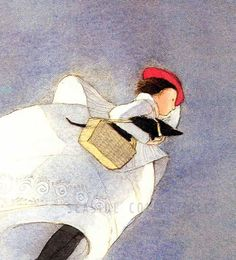 The Wizard of Oz by Lisbeth Zwerger Dorothy Flies Home Litho