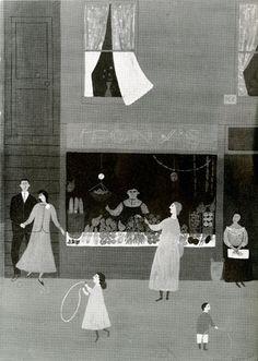 illustration for Seventeen magazine, Doris Lee, 1955