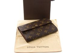 e1f9434505bf Authentic Louis Vuitton Monogram Porte-tresor etui papiers Trifold Wallet  M61202