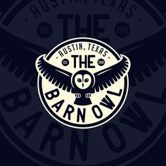 Logo design I've created for 'The Barn Owl' bar. Do you want to give your business a new look? Write me a message to: wintrygrey@hotmail.com Logo Design, Graphic Design, Juventus Logo, Porsche Logo, My Works, Owl, Barn, Writing, Photo And Video