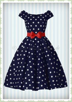 Hell Bunny Jahre Retro Vintage Petticoat Punkte Kleid - Nicky - Blau Source by maritagertler dresses Vintage Dresses 50s, Vintage Inspired Dresses, 50s Dresses, Retro Dress, Stylish Dresses, Pretty Dresses, Beautiful Dresses, Casual Dresses, Vintage Outfits